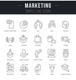 set line icons marketing vector image
