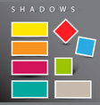 set of shadow effects vector image vector image