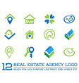 Set of Template logo for real estate agency or vector image