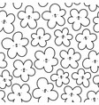 simple fun outline doodle flowers pattern vector image