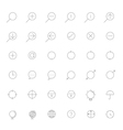 Simple thin outline Icon set vector image vector image