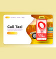 smartphone call taxi banner concept place vector image vector image