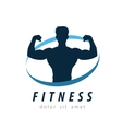 sports logo design template fitness or gym vector image