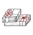 stack gifts icon box and present for holiday vector image vector image