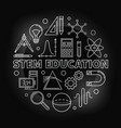 stem education round silver in vector image vector image