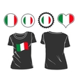 t-shirt with the flag of Italy vector image