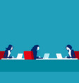 teamwork office space people group workplace vector image