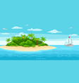 tropical island in ocean vector image