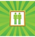 Two men picture icon vector image