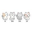 un deux trois cat t-shirt vector image vector image