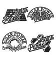 vintage solar panels emblems vector image