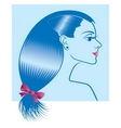 Woman with hairstyle vector image vector image