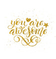 you are awesome hand written lettering vector image