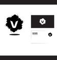 Alphabet letter v grunge splash logo icon vector image