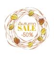 Autumn sale frame vector image
