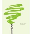 Card with abstracted stylized green tree vector image