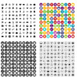 100 portfolio icons set variant vector image vector image