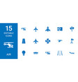 15 air icons vector image vector image