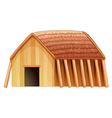 A vikings shelter vector image