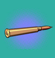 a weapon bullet firearms and ammunition crime vector image vector image