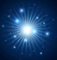 Abstract background of blue star burst vector image vector image