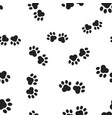 animal paw print seamless pattern background vector image