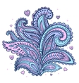 beautiful indian floral paisley ornament