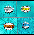 big set of turquoise backgrounds vector image vector image