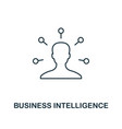 business intelligence icon thin line style vector image vector image