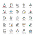 business management flat icons pack vector image vector image
