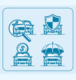 car line icon set choice purchase insurance vector image