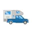 Ccaravan travel car vehicle trailer house summer vector image vector image