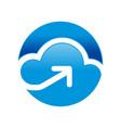 cloud storage access circular symbol logo design vector image