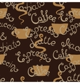 Coffee seamless pattern Lettering Latte vector image vector image