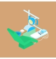 color isometric dental clinic vector image vector image