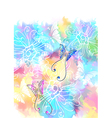 Colorful card with butterfly vector image