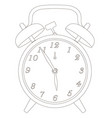 contour of the old clock with alarm clock vector image vector image