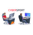 cybersport and gamers poster vector image