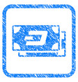 dash banknotes framed stamp vector image vector image