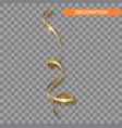 decorative gold serpentine icon realistic vector image vector image