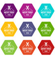 designer tool icons set 9 vector image vector image