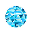 diamond ice crystal low poly ellipse background vector image