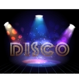 Disco background with spotlights vector image