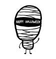doodle cartoon mummy halloween celebration vector image