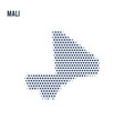 dotted map of mali isolated on white background vector image