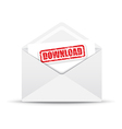 download white envelope vector image vector image