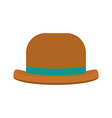 fashion hat object carnival style vector image vector image