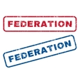 Federation Rubber Stamps vector image