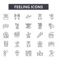 feelings line icons for web and mobile design vector image vector image