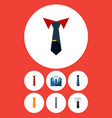 flat icon clothing set of style textile collar vector image